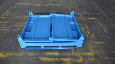 金属周转箱在仓储物流系统的运用更加科学规范