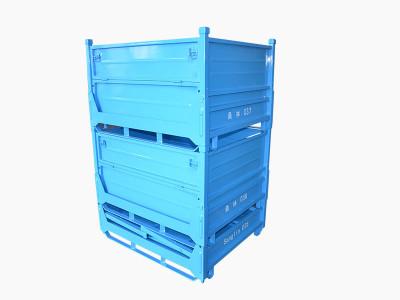 蓝色钢板箱