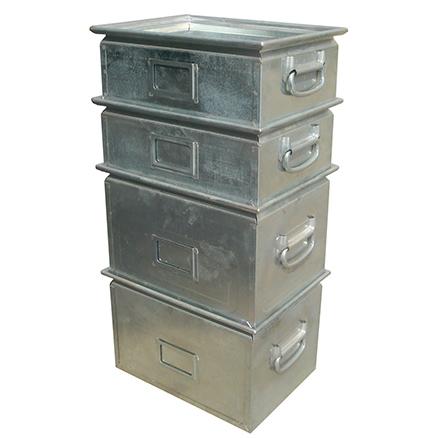 金属周转箱堆叠