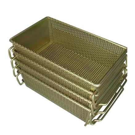 金属周转筐套叠 斜插式