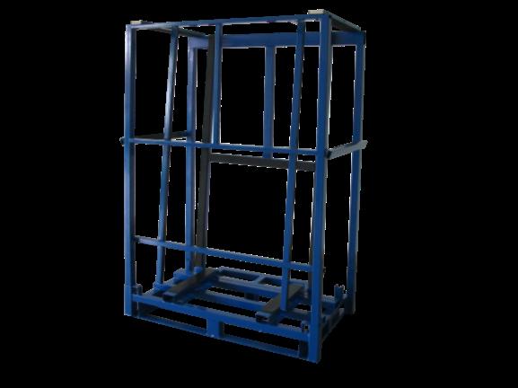 蓝色玻璃架